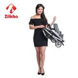 Graues Farben-Art-Baby Wagen-Auto mit Rahmen und regelmäßigem Sitz