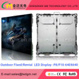Brilho elevado que anuncia a tela de indicador ao ar livre do diodo emissor de luz (painel de SMD P5/P6/P8/P10)