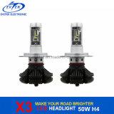 차 헤드라이트를 위한 수리용 부품시장 40W 4500lm 6000k X3 LED 헤드라이트 Philips H4 Hi/Lo