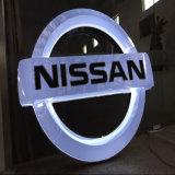 3D логос автомобиля автомобиля загоранный логосом СИД