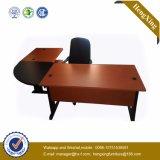 Melamine Formica PVC laminado en forma de L Escritorio de oficina ejecutivo (HX-RS214)