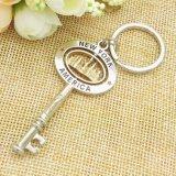 Metal Split Key Ring com acessórios de corrente