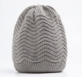 Chapéus de confeção de malhas acrílicos do jacquard fresco do inverno