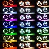 7 '' lampada compatibile di controllo LED di Bluetooth dell'occhio di angelo del fascio di guidacarta DRL H/L del faro di RGB LED per il Wrangler della jeep