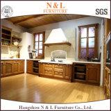 N & L portello classico della cucina di disegno della quercia dell'armadietto di legno solido