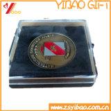 Broche de médaille personnalisée 2017 avec boîte de rangement de présentation