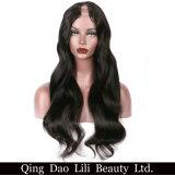 """Pelucas del pelo humano de la pieza de la belleza U de Lili para mujeres negras no color natural Freeshiping de la parte pelo Nemy brasilen@o el 100% onda carrocería 1*3 medio """""""