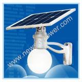 Lámpara solar fresca del jardín del blanco 12W LED