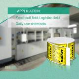 T/min-75 droog snel het Synthetische Materiaal van Etiketten met RoHS &MSDS