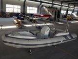19feet 5.8m 팽창식 늑골 배, 어선 구조 배, 판매를 위한 스포츠 모터 배