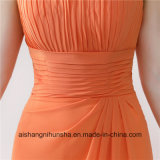 Orange robes demoiselle d'honneur Halter Sexy Prom Backless longues robes