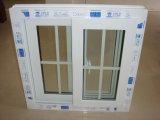Diseño de las parrillas de PVC de doble acristalamiento de ventana deslizante