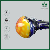Nuevo diseño del tubo de vidrio de Zebra Crossing Glassbong fumar tubo Bowl