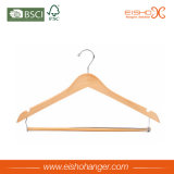 Natural Color Solid Wood Uso de Vestuário Hanger Hanger