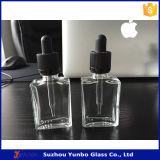 капельница прямоугольника 30ml стеклянная разливает плоские бутылки по бутылкам жидкости e