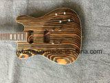 Pearl White Block Inlay Zebrawood Body Tele Guitarra elétrica