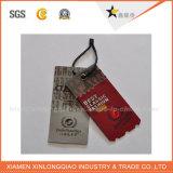 Une étiquette personnalisée de l'impression de papier kraft de balises en plastique Étiquette personnalisée