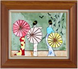 Горячая картина заплатки коллажа рамки сбываний, картина искусствоа ткани