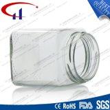 300ml正方形のフリントガラスの蜂蜜の瓶(CHJ8026)
