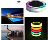 Outdoor Romantic IP68 Lumière LED de piscine solaire RVB Lumière LED flottante colorée