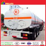 de Diesel van 36cbm Brander Verwarmde Tanker van het Bitumen met de Chassis van de Aanhangwagen van de tri-As