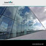 Het Decoratieve Gekleurde Vacuüm Vlakke die Glas van Landvac in de Gebouwen van de Gordijngevel van het Glas Wordt gebruikt