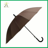 тканевый материал Pongee 190t и тип зонтик зонтиков гольфа равнины