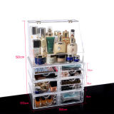De grote Doos van de Opslag van de Opmaker van de Desktop Transparante Acryl Kosmetische