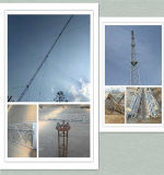 Seismic ocho etapas de cable de comunicación de la torre Guyed