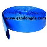 Manguera de descarga de agua Lay-Flat PVC/PVC Layflat manguera para el riego por goteo