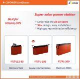 la mejor batería terminal delantera del gel de 12V 80ah para el ferrocarril, telecomunicación, UPS