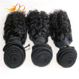 ジェリーのカールの毛のWeft自然なモンゴルのバージンの人間の毛髪