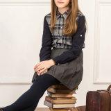 소녀와 소년을%s 격자 무늬 Flannel 교복 셔츠