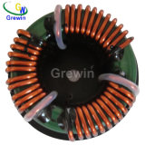 La base toroidal del modo común estrangula el inductor