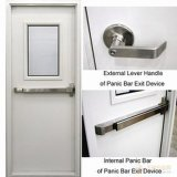 Стальной американского стандарта безопасности Безопасность двери с UL этикетки