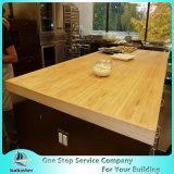 Encimera de bambú personalizada, tapa de la tabla de la cocina, Woktop
