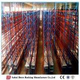 Défilement ligne par ligne sélecteur l'Europe, crémaillères lourdes de palette de mémoire de palette de système de stockage