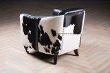 Cadeira moderna do sofá da sala de visitas do couro do pônei do vintage do desenhador da mobília