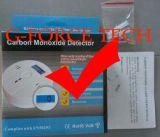 De In het groot Detector op batterijen van Co van de Koolmonoxide met LCD Vertoning
