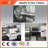 Fabricante automático de la herramienta de máquina del torno del CNC de la base plana del grado