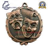 Подгонянные 3D умирают медаль бросания, античная медная отделка
