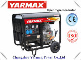 Groupe électrogène diesel refroidi par air de bâti ouvert monophasé de moteur diesel/générateur de Yarmax Genset Ym3500e
