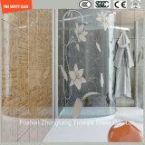 Vier Farbe hohes Temeprature Silk Screening-Dusche-Glas