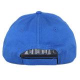 Бейсбольная кепка изготовленный на заказ голубой плоской панели вышивки 6 выдвиженческая
