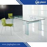 Plat rond en verre/plié/tempérée/Le verre trempé pour meubles