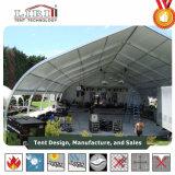 イベントのための20mのカーブのテント、販売のためのカーブの玄関ひさし