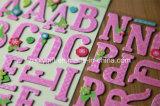 3D Dimensionale Met de hand gemaakte Die-Cut Stickers van de Ambacht van het Document van het Alfabet/van de Brief