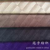 Le tissu flexible superbe gravé en relief de velours a collé pour le capitonnage