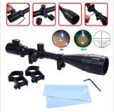 6-24X50 Rifle Scope Red & Green Mil-DOT Illuminated Optics Hunting Crosshair