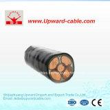 Cable de alambre flexible forrado coaxial de cobre de la mina subterránea